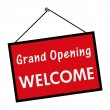 Royalty-Free Stock Photo: Grand Opening Welcome Sign