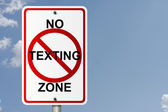 No Texting Zone — Stock Photo