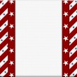 Red and White American celebration frame for your message or inv — Φωτογραφία Αρχείου