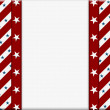 Red and White American celebration frame for your message or inv — Foto Stock
