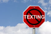 Stop texting and driving — Stock Photo