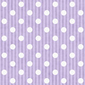 Purple and White Polka Dot Fabric Background — Stock Photo