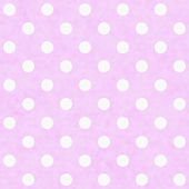 Pink White Polka Dot Fabric Background — Stock Photo