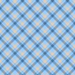 Blue and Beige Plaid Fabric Background — Stock Photo #13407373