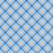 Stock Photo: Blue and Beige Plaid Fabric Background