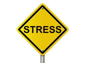 Warning Stress Ahead — Stock Photo