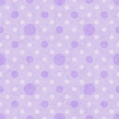 Purple and White Polka Dot Fabric Background — Stockfoto