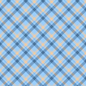 Blue and Beige Plaid Fabric Background — Stock Photo