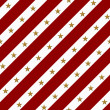 Royalty-Free Stock Photo: Red and White Striped Fabric Background with Gold Stars