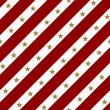 Red and White Striped Fabric Background with Gold Stars — Stock Photo
