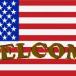 Welcome to America - Stock Photo