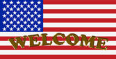 Welcome to America — Stock Photo