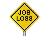 Warning Job Loss Ahead — Stock Photo