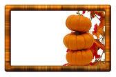 Fall Harvest Border — Stock Photo