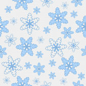 Fundo de tela azul e branco floco de neve — Fotografia Stock