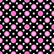 Purple and White Polka Dot Fabric Background — Photo