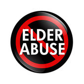 No Elder Abuse button — Stock Photo