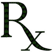 Marijuana prescription — Stock Photo