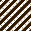 Brown, Gold and White Striped Fabric Background — Stock Photo