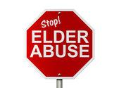 Maltraitance des personnes âgées panneau d'arrêt — Photo