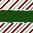 Christmas Candy Cane Striped background for your message or invi — Stock Photo #15897937