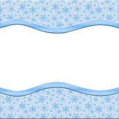 Snowflakes background for your message or invitation — Stock Photo
