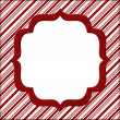 Christmas Candy Cane Striped background for your message or invi — Stock Photo #16044733