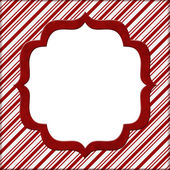 Christmas Candy Cane Striped background for your message or invi — Stock Photo