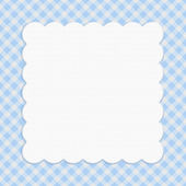 Blue checkered celebration frame for your message or invitation — Stock Photo