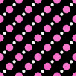 Pink, White and Black Polka Dot Fabric Background — Stock Photo