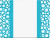 Niebieskie i białe pęcherzyki rama dla twojej wiadomości lub zaproszenie — Zdjęcie stockowe