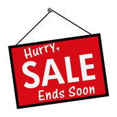 Sale Ends Soon Sign — Stock Photo