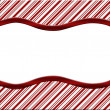 Christmas Candy Cane Striped background for your message or invi — Stock Photo #16923769