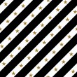 Black, Gold and White Striped Fabric Background — Stock Photo