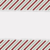 Christmas Candy Striped Background for your message or invitatio — Stock Photo