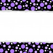 Purple Polka Dot background for your message or invitation — Lizenzfreies Foto