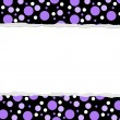 Purple Polka Dot background for your message or invitation - Stock Photo