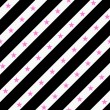 Black, Pink and White Striped Fabric Background — Stock Photo