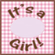 It is a girl baby announcement — ストック写真 #18415577