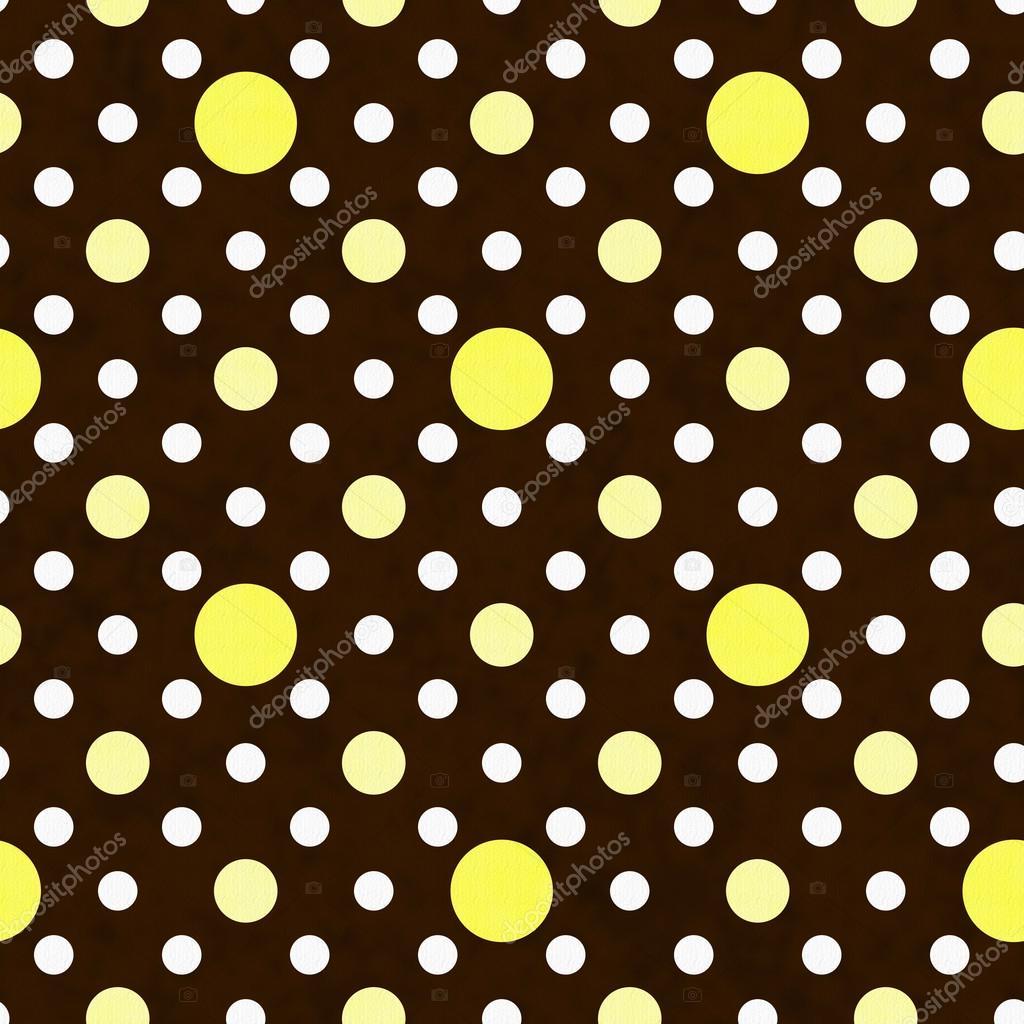 Baixar Fundo de tecido amarelo branco e marrom bolinhas — Imagem  #2F1602 1024x1024 Banheiro Amarelo E Marrom