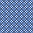 Navy Blue Gingham Fabric  Background — Lizenzfreies Foto