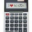I Love Math Calculator — Stock Photo