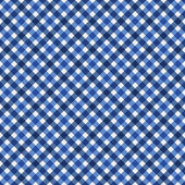 Navy Blue Gingham Fabric Background — Stock Photo