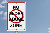No Elder Abuse Zone — Stock Photo