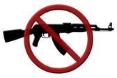 Ban on assault rifles — Stock Photo