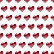 Royalty-Free Stock Photo: Retro Red Heart-shaped Fabric Background