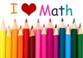 Ik hou van math — Stockfoto
