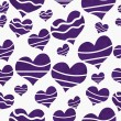 Retro Purple Heart-shaped Fabric Background — Stock Photo