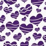 Retro Purple Heart-shaped Fabric Background — Stock Photo