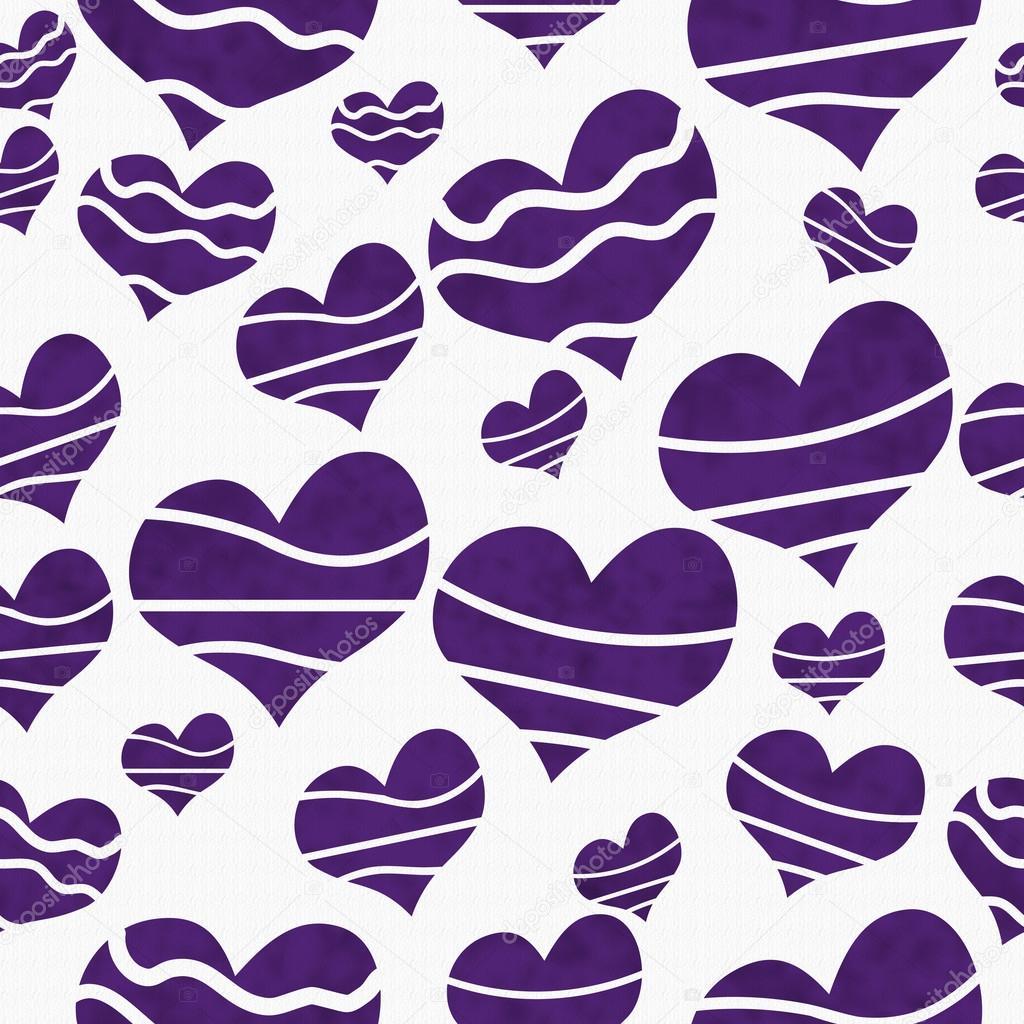 Retro Purple Fabric Retro Purple Heart-shaped on
